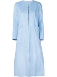 Adam By Adam Lippes Adam Lippes Panelled Coat Blue