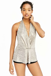 Kimchi And Blue Kimchi Blue After Hours Surplice Tank Top Gold