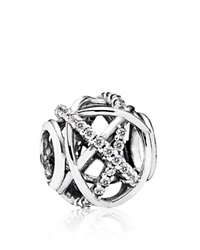 Pandora Design Pandora Charm Sterling Silver And Cubic Zirconia Galaxy Moments Collection Clear Silver