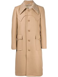 J.W.Anderson Studded Collar Coat Brown