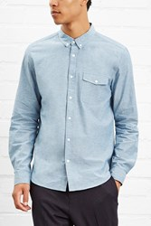 Forever 21 Chambray Button Front Shirt