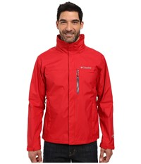 Columbia Pouration Jacket Mountain Red Pond Men's Coat