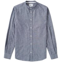 Norse Projects Benno Grandad Slub Shirt Blue