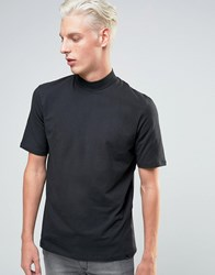 Adpt T Shirt With High Neck Detail Black
