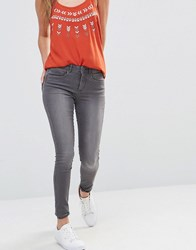 Only Royal Reg Rise Skinny Jeans Grey