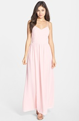 Adelyn Rae Chiffon Fit And Flare Maxi Dress Light Pink