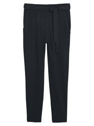 Mango Textured Baggy Trousers Black