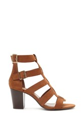 Forever 21 Faux Suede Caged Heels