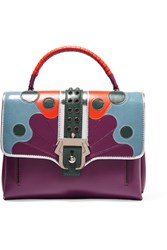 Paula Cademartori Petite Faye Leather Tote Purple