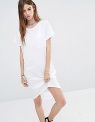 Noisy May Loose T Shirt Dress Bright White