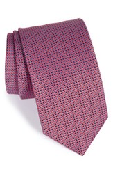 Men's Eton Geometric Silk Tie Red