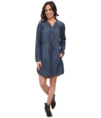Lucky Brand Chambray Shirt Dress Ocean Women's Dress Blue