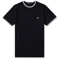 Fred Perry Tipped Ringer Tee Black