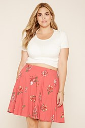 Forever 21 Plus Size Floral Print Skirt