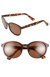 Women's Zeal Optics '6Th Street' 52Mm Polarized Plant Based Retro Sunglasses 6Th Street Copper