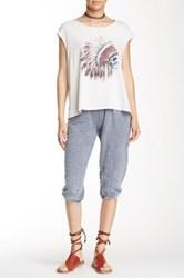 Gypsy Heart Solid Cropped Jogger Gray