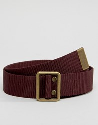 Abercrombie And Fitch Fabric Belt In Burgundy Red