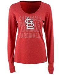 47 Brand '47 Women's St. Louis Cardinals Forward Long Sleeve T Shirt Red