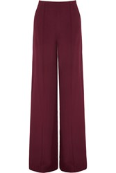 Adam By Adam Lippes Crepe Wide Leg Pants Burgundy
