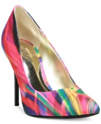 Carlos By Carlos Santana Posy Pumps Women's Shoes Red Multi