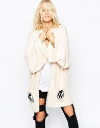 Wildfox Couture Wildfox Classic Logo Cardigan White