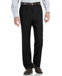 Calvin Klein Modern Fit Microfiber Flat Front Dress Pants Black