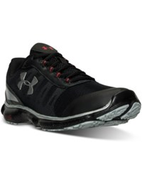 Under Armour Men's Micro G Attack 2 Running Sneakers From Finish Line Black Black Metallic Silv