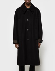 Raf Simons Big Single Breasted Coat Dark Navy