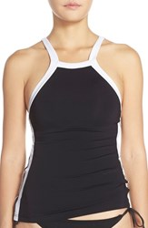 Women's Seafolly 'Block Party' High Neck Tankini Top