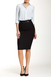 Amanda And Chelsea Belted Pencil Skirt Black
