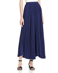 Theory Laire Pleated Maxi Skirt Sea Blue