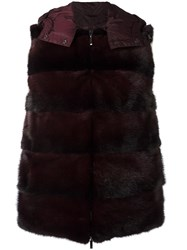 P.A.R.O.S.H. Hooded Gilet Red