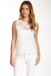 Stella And Jamie Lace Open Back Tank White