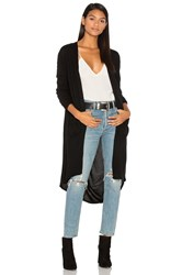 Inhabit Long Drape Cardigan Black