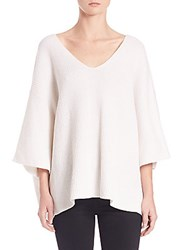 Helmut Lang Cotton And Cashmere Dolman Sweater White