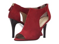 Adrienne Vittadini Genia Ruby Kid Suede Women's Shoes Red