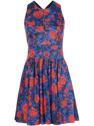 Sophie Theallet Garden Print Mini Dress Blue