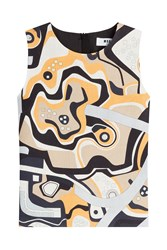 Msgm Patterned Linen Shell Multicolor