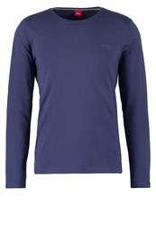 S.Oliver Long Sleeved Top Tattoo Blue Dark Blue