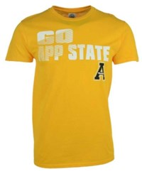 J America Men's Appalachian State Mountaineers Slogan Stack T Shirt Black