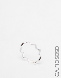 Asos Curve Sterling Silver Zig Zag Ring