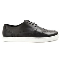 Menlook Label Black Leather Sneakers