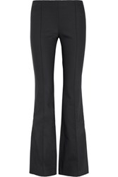 The Row Becaro Stretch Cady Flared Pants Midnight Blue
