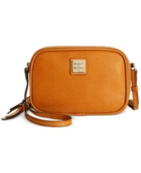 Dooney And Bourke Saffiano Sawyer Crossbody Natural