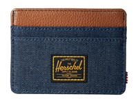 Herschel Charlie Dark Denim 2 Credit Card Wallet Black