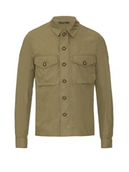 Belstaff Sampson Brushed Cotton Shirt Khaki