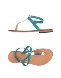 Annarita N. Thong Sandals Deep Jade