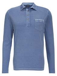 Marc O'polo Long Sleeved Polo Shirt Blue