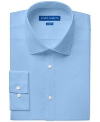 Vince Camuto Slim Fit Sateen Dress Shirt French Blue