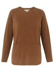 Whistles Cashmere Ribbed Boxy Jumper Brown